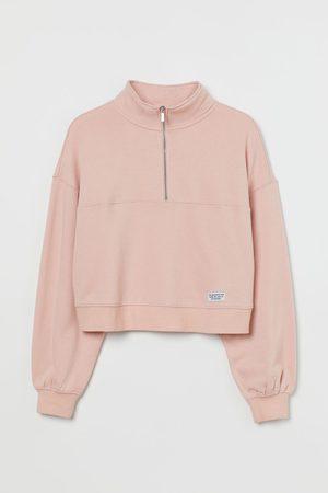 H&M Damen Longsleeves - Sweatshirt mit Zipper