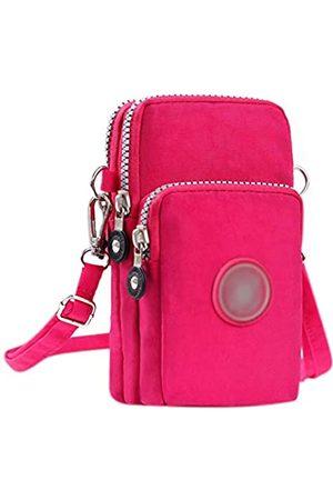 Amamcy 3 Schichten Crossbody Handgelenk Schultertasche Lagerung Geldbörse Wasserdichte Nylon Riemen Handy Tasche für iphone - AMbb-000101Z-02