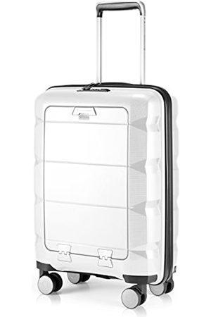 Hauptstadtkoffer Britz - Handgepäck mit Laptopfach Hartschalen-Koffer Trolley Rollkoffer Reisekoffer, TSA, 4 Rollen, 55 cm