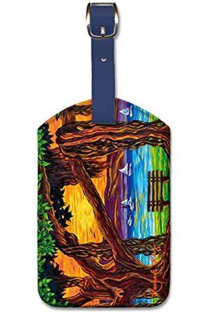 Pacifica Island Art R Ray Maui Banyan Bliss Gepäckanhänger aus Kunstleder