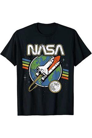 Nasa Blast Off Retro Rainbow Stripes Premium T-Shirt