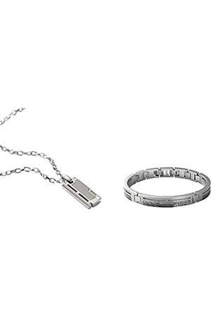 Fossil Herren Stahl Kette JF84466040 + Herren Armband Edelstahl