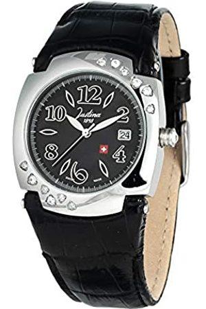 JUSTINA Damen Uhren - DamenAnalogQuarzUhrmitLederArmband21725N