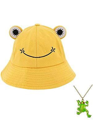 Haoohu Froschmütze für Erwachsene, Baumwolle, Fischerhut, Froschmütze für Fischer, Strand, Festival