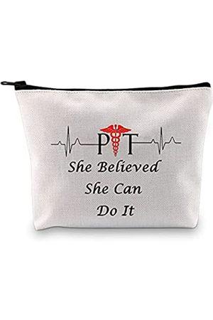 LEVLO Kosmetiktasche für Physiotherapeuten, Herzschlag-Geschenk, mit Reißverschluss, für Krankenschwestern, Physiotherapeuten