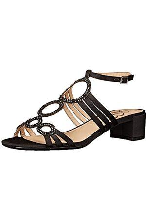 J. Renee Damen Kleider - Damen Terri Kleid Sandale, (Black Glimmer)