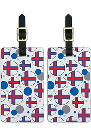 Graphics and More Graphics & More C-i-Faroe Islands Nationalflagge - Luggage.Tags.09719