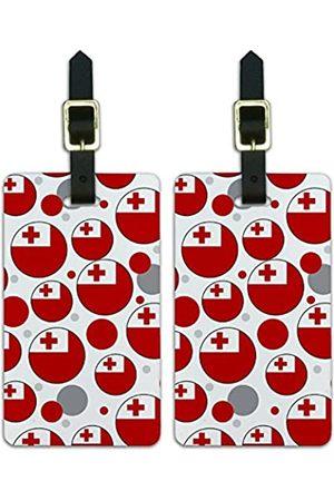 Graphics and More Graphics & More T-z-Tonga Nationalflagge - Luggage.Tags.09741