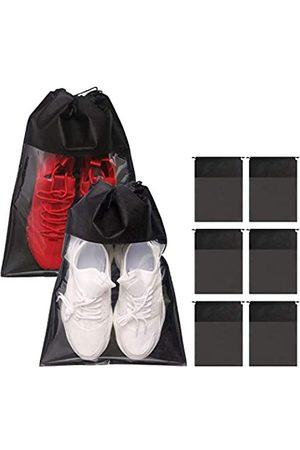 TENABORT 8 Stück Schuhbeutel für Reisen, Vliesstoff, wasserdichte Packung, Organizer