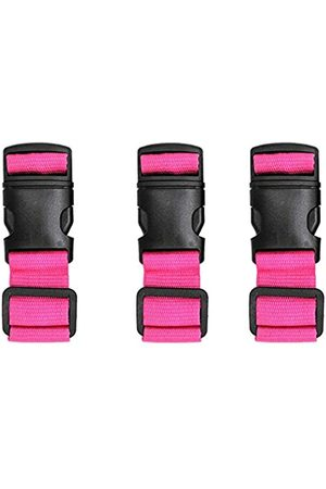 LTW Luggage Straps Adjustable Suitcase Strap(Rose RED_3PCS)