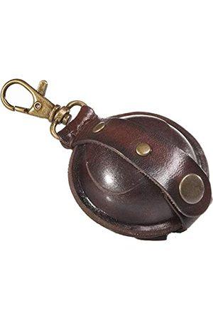 Mika Damen Taschen - 28071102 - Mini Schlüsselanhänger aus Echt Leder/Sattelleder, Geldbörse als Schlüsseletui mit Münzfach mit Druckknopf, Schlüsselbörse für Kleingeld in