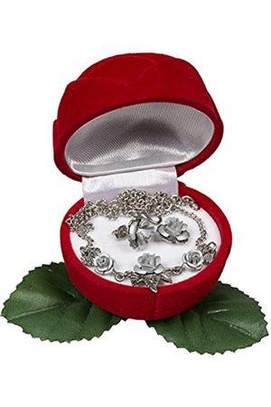 Schnabel Damen-Schmuckset Halskette + Ohrringe Rosenschmuck - Rosenset