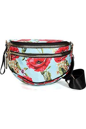 AO ALI VICTORY Crossbody-Taschen für Frauen, wasserdichte Nylon-Reise-Schulter-Handtaschen Mädchen Brust Geldbörsen leichter Sling Rucksack