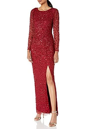 Adrianna Papell Damen Beaded Covered Column Gown Formales Abendkleid