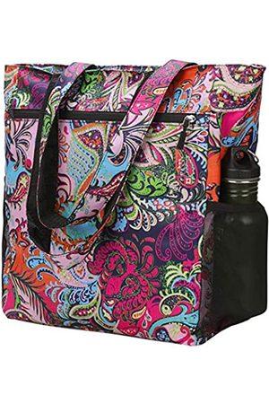 Beurlike Tote Bag Schulter-Reisetaschen für Frauen Blumenmuster Groß Wasserdicht Handtasche für Gym Strand Picknick Täglich Taschen, (navy)