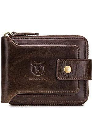 BULLCAPTAIN Herren-Geldbörse aus echtem Leder, RFID-blockierend, große Kapazität