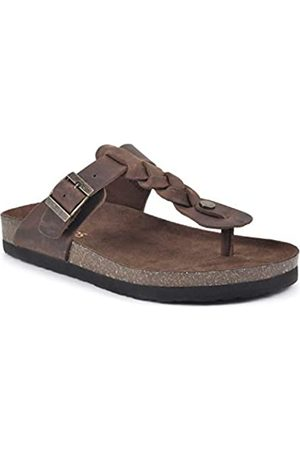 White Mountain Damen Sandalen - Damen Handle Flache Sandale, /Leder