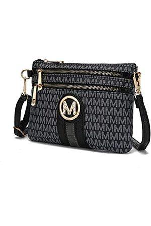 MKF Collection MKF Umhängetasche für Damen – abnehmbarer verstellbarer Riemen – kleine Handtasche aus PU-Leder, (Black Tarren)