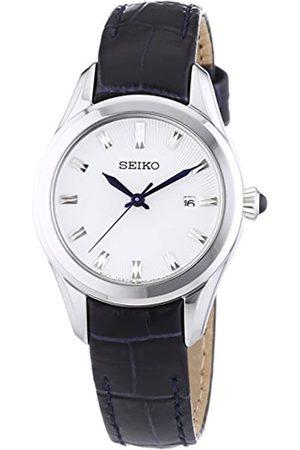 Seiko Damen Uhren - Damen-Armbanduhr XS Analog Quarz Leder SXDF69P1