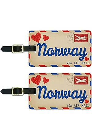 Graphics and More Graphics & More Luftpostkarte Love for Norway Gepäck, Koffer