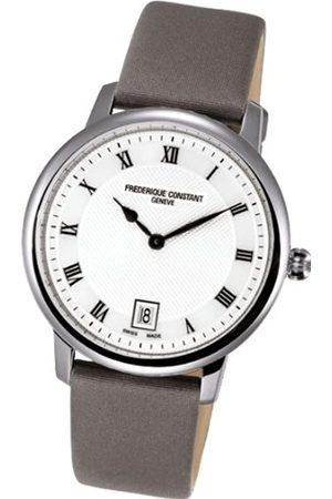Frederique Constant Uhren - Unisex Analog Quarz Uhr mit Verschiedene Materialien Armband FC-220M4S36