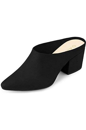 Allegra K Damen Sandalen - Damen Pointed Toe Blockabsatz Slingback Pantoffeln Sandalen 38
