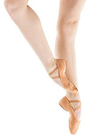 SANSHA Damen Schuhe - Damen Geteilte Ledersohle Weiche Ballettschuhe 83x Pro-fit Flach, Pink (Rose)