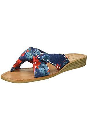 Dolce Vita Damen Sandalen - Women's HAVIVA Slide Sandal, Blue Multi Floral Print