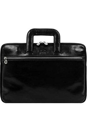 Time Resistance Herren 13 in Leder Laptoptasche Arbeitstasche Bürotasche Ledertasche Aktentasche Umhängetasche Lehrertasche Notebooktasche Businesstasche