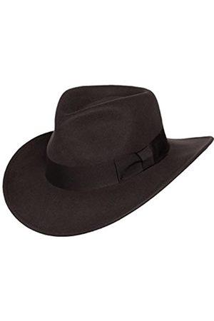 Silver Canyon Boot and Clothing Company Indiana Outback Fedora-Hut Knautschbar Wollfilz für Herren X-groß