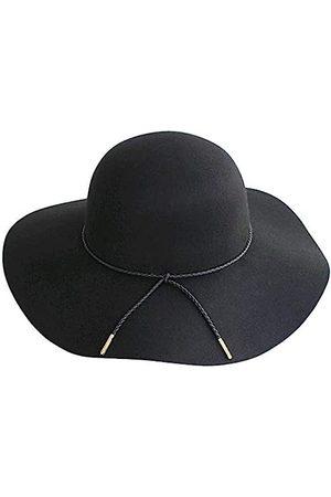 Lanzom Fedora-Hut für Damen, Retro-Stil, breite Krempe, großer Panama-Hut, Gürtel