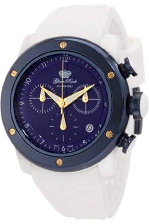 Glam Rock Damen Uhren - Damen GR50114 Aqua Rock Chronographes Zifferblatt weißes Silikon Armbanduhr