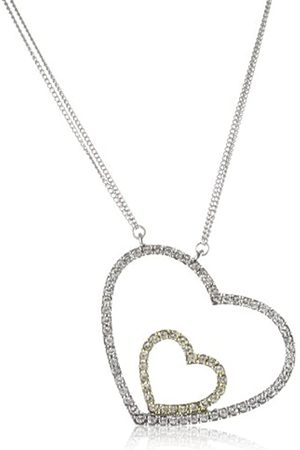 Jean Pierre Damen-Collier Swinging-Heart Bicolor 80 Swarovski-Kristalle weiß 55 cm 4217