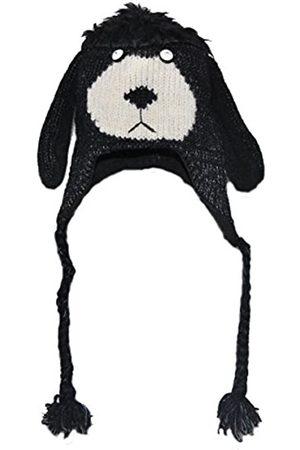 PINK YAK Tiermütze schwarzer Hund Erwachsen