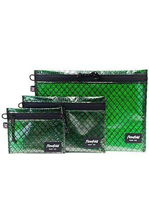 Flowfold Recycelte Segeltuch-Voyager-Beutel – recycelte Reißverschlusstaschen, Set mit 3 leichten und wasserdichten Taschen, strapazierfähige Reißverschlusstaschen, verschiedene Größen