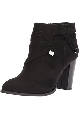ATHENA Women's Renly Ankle Bootie, Black Suede