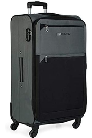 Itaca Großer XL Reisekoffer 78cm Eva-Polyester. Erweiterungsfähig. 4 Rollen. Extrem geräumig. Weich