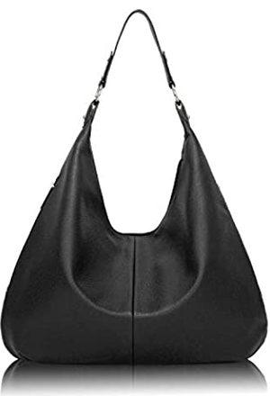 QUEENSHOW Casual Soft PU Leder Handtasche Hobo Bag Aktentasche Tote Bag Schultertasche für Frauen