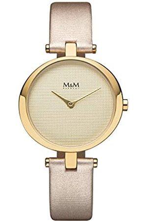 M&M Damen Uhren - DamenAnalogQuarzUhrmitLederArmbandM11931-937