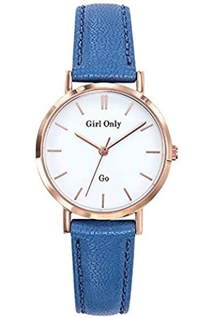 GO Girl Only Damen Analog Quarz Uhr mit Leder Armband 699133