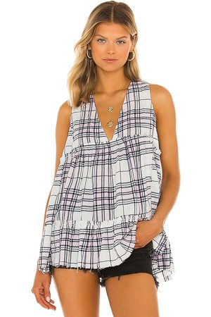 Free People X REVOLVE Tidal Wave Plaid Top in . Size XS, S, M.