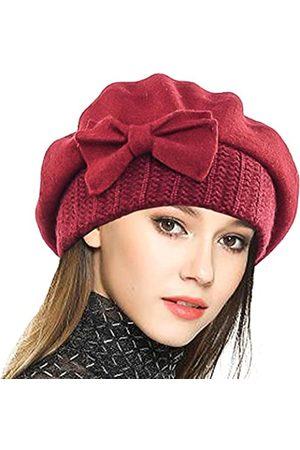 VECRY Damen Wintermütze aus 100 % Wolle - - Einheitsgröße