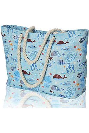 KUAK Große Strandtasche, 100% wasserdichte Strandtasche für Frauen mit Reißverschluss