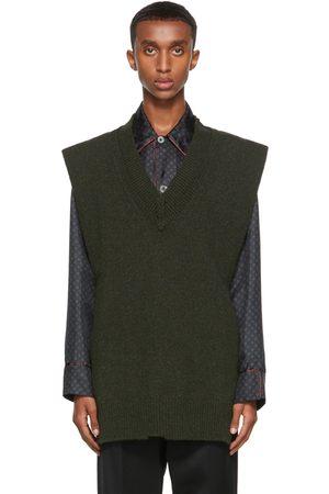 Maison Margiela Green Wool Vest