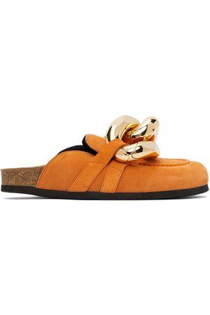 J.W.Anderson Damen Halbschuhe - Orange Suede Chain Loafers