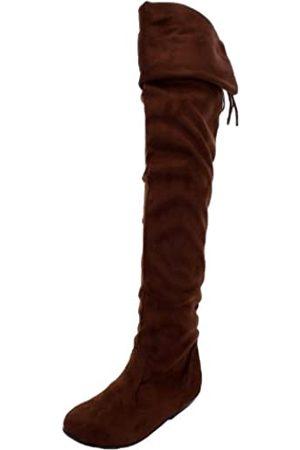 FOREVER Damen Uhren - Tammy-58 Boots, Brown Suede