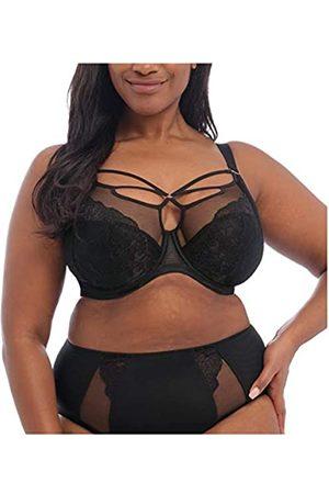 Elomi Women's Plus Size Brianna Strappy Underwire Plunge Bra, Black