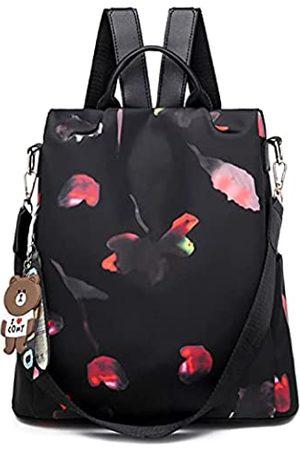 Freie Liebe Damen Anti-Diebstahl Rucksack Geldbörse Wasserdicht Oxford Leicht Damen Taschen Schule Schultertaschen Handtaschen, (A-Schmetterling)