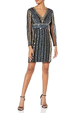 Adrianna Papell Damen Stripe Bead Sheath Dress Formales Abendkleid
