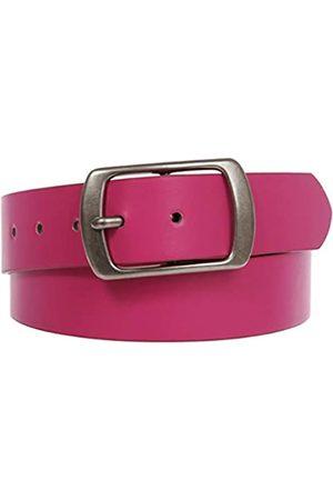 beltiscool Damen Ledergürtel mit quadratischer Schnalle - Pink - S-76/81 cm